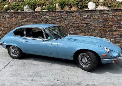 1971 Jaguar XKE 12 Cylinder Coupe, Sky Blue